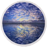 Round Beach Towel featuring the photograph It Was Your Song by Phil Koch