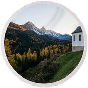 Round Beach Towel featuring the photograph Italian Alps I by Yuri Santin