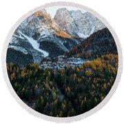 Round Beach Towel featuring the photograph Italian Alps II by Yuri Santin