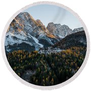 Round Beach Towel featuring the photograph Italian Alps by Yuri Santin