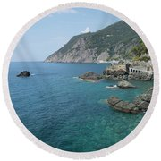 Italian Coast Round Beach Towel