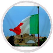 Italian Colors Round Beach Towel
