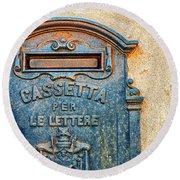 Italian Mailbox Round Beach Towel by Silvia Ganora