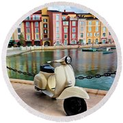 Italian Vista Series 8011y Round Beach Towel