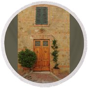 Italy - Door Nine Round Beach Towel