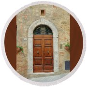 Italy - Door Twelve Round Beach Towel