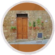 Italy - Door Twenty Round Beach Towel
