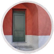 Italy - Door Two Round Beach Towel