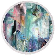 Round Beach Towel featuring the painting Italy Experience by Jodie Marie Anne Richardson Traugott          aka jm-ART