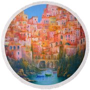 Impressions Of Italy   Round Beach Towel