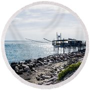 Italy - The Trabocchi Coast 2  Round Beach Towel