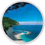 Italy's Amalfi Coast Round Beach Towel