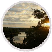 Round Beach Towel featuring the photograph It's A Beautiful Morning by Debbie Oppermann