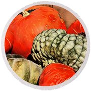 It's Pumpkin  Season Round Beach Towel