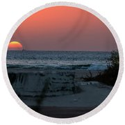 It's The End Of The Day Round Beach Towel