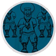 Iuic Soldier 1 W/outline Round Beach Towel