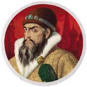 Ivan The Terrible Round Beach Towel