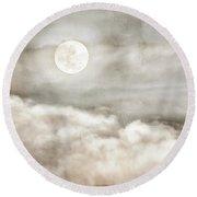 Ivory Moon Round Beach Towel
