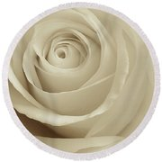 Ivory Rose Round Beach Towel