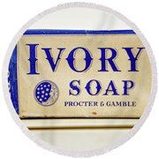 Ivory Soap Round Beach Towel