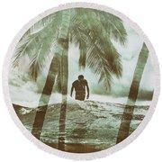 Izzy Jive And Palms Round Beach Towel