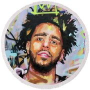 J Cole Round Beach Towel by Richard Day
