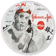 J  J Round Beach Towel
