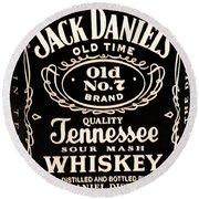 Jack Daniel's Round Beach Towel