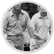 Jack Nicklaus Arnold Palmer Signed Poster Reprint Round Beach Towel