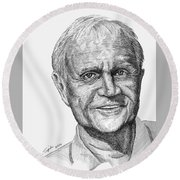 Jack Nicklaus Round Beach Towel by Lawrence Tripoli