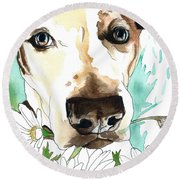 Gracie Jack Russell Round Beach Towel