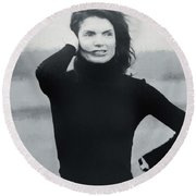 Jackie Kennedy - Painting Round Beach Towel