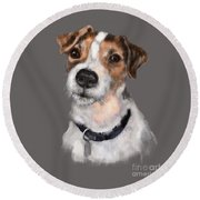 Jackson At Sunset Round Beach Towel