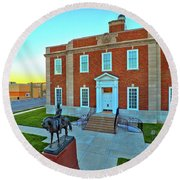 Jackson County Courthouse Round Beach Towel by Dave Luebbert