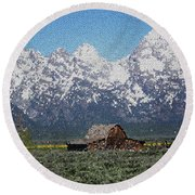 Jackson Hole Round Beach Towel