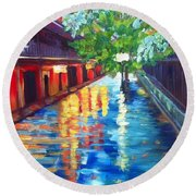 Jackson Square Reflections Round Beach Towel