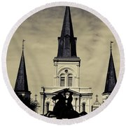 Jackson Square - Split Tone Round Beach Towel