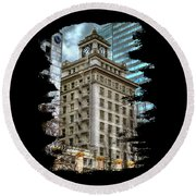 Jackson Tower Portland Oregon Round Beach Towel