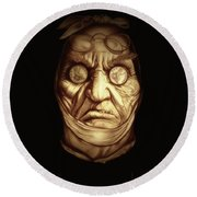 Jacob Marley Round Beach Towel by Fred Larucci