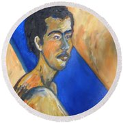 Jacob Patriarch Of The Israelites Round Beach Towel by Esther Newman-Cohen