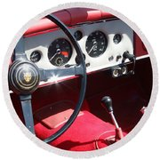 1956 Jaguar Xk140 Dhc Round Beach Towel