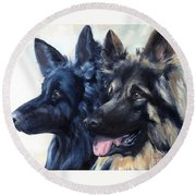 Jake And Shiloh Round Beach Towel