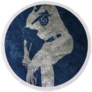 Jake Arrieta Chicago Cubs Art Round Beach Towel