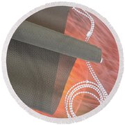 Jalousie #0008 Round Beach Towel