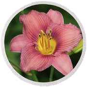 Jamaica Sunrise Daylily Round Beach Towel