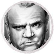 James Cagney Round Beach Towel
