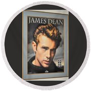James Dean Hollywood Legend Round Beach Towel