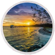 James Island Sunrise - Melton Peter Demetre Park Round Beach Towel