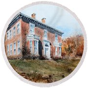 James Mcleaster House Round Beach Towel