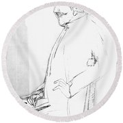 James Whistler's Portrait Round Beach Towel